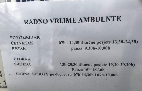 Novo radno vrijeme ambulante u Vrpolju