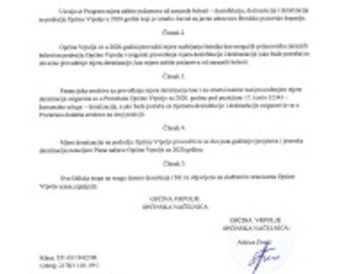 Odluka o imenovanju privremene zamjenice